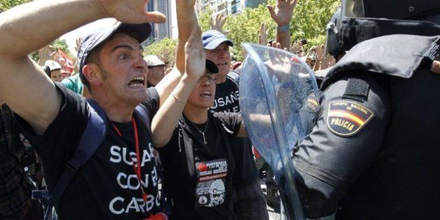 La fiesta minera en Madrid acaba con cargas policiales y ocho detenidos (VÍDEOS,