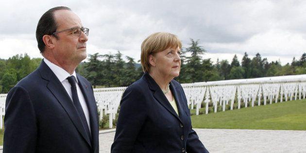Merkel y Hollande lanzan un mensaje de paz en el centenario de la Batalla de