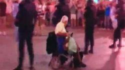 Circuito de antidisturbios en silla de ruedas