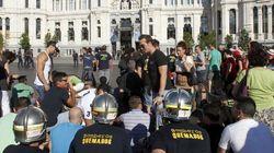 Policías contra policías frente al Congreso