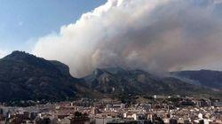 El incendio de Alcoy amenaza un parque natural y podría haber quemado ya 150 hectáreas