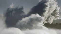 Vientos huracanados, oleaje y frío en 26