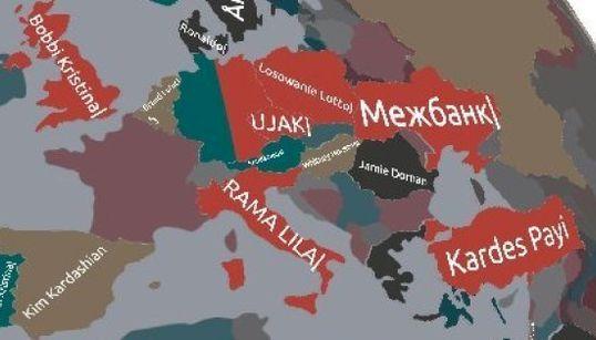 El mapa en 3-D que te dice qué le interesa a los