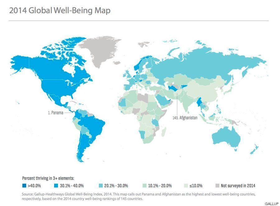 Estos son los 10 países más felices del mundo en 2014 (y los más
