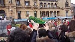 Melchor acaba por los suelos en San Sebastián