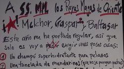 La carta a los Reyes Magos de Nacho