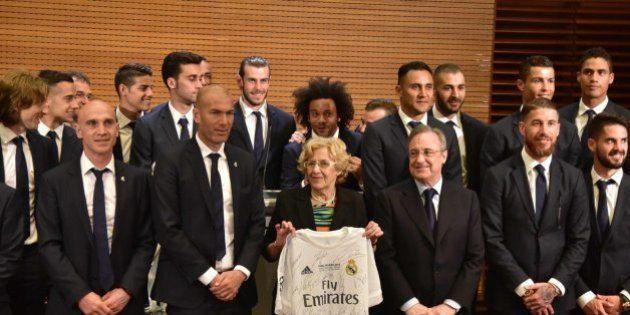 El Madrid celebra la Undécima con aficionados y