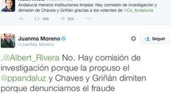 ¿PP o Ciudadanos? La discusión en Twitter entre Juanma Moreno y Albert