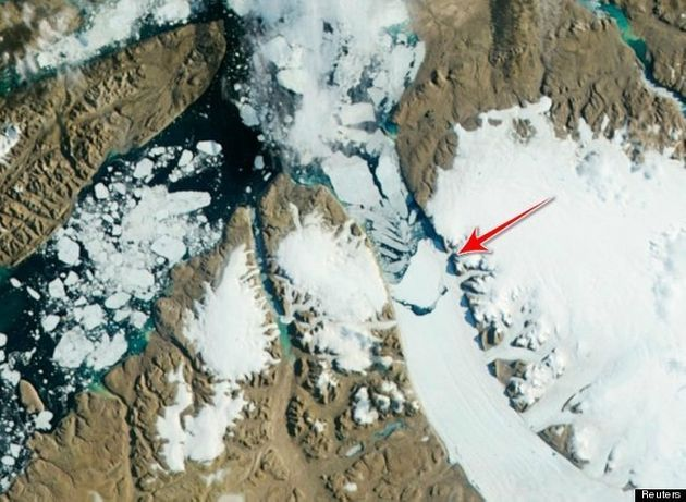 Un iceberg del doble de tamaño que Manhattan se desprende de un glaciar de Groenlandia