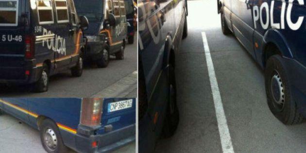 La Policía investiga el pinchazo de las ruedas de 30 furgones en Madrid horas antes de las