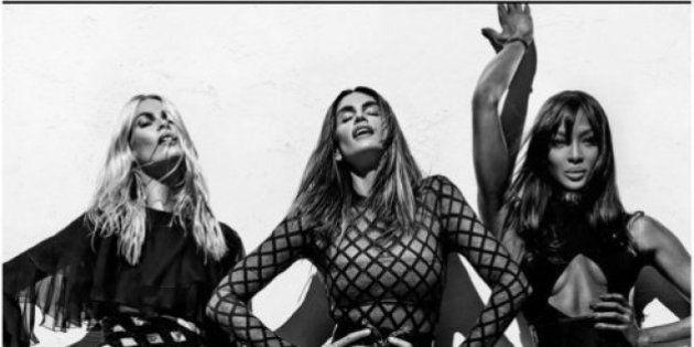 Claudia Schiffer, Naomi Campbell y Cindy Crawford, unidas de nuevo para