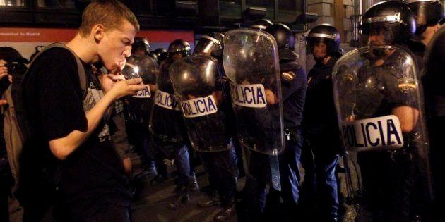 15 detenidos y 39 atendidos tras la manifestación contra los recortes en