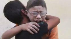 El vídeo de dos niños sirios tras perder a su hermano en un