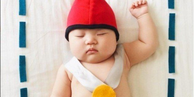 Esta bebé no sabe que es la reina de los disfraces mientras