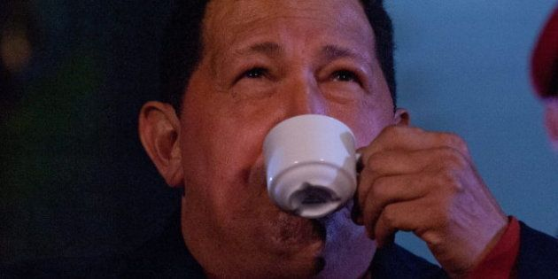 Hugo Chávez ofrece una conferencia de prensa en la jornada de reflexión antes de las elecciones de