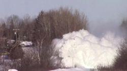 ¿Qué hay detrás de esa inmensa nube de nieve?