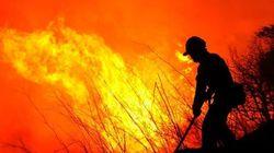 Huída del fuego por el