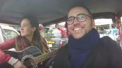 Estrenando disco por el centro de Londres con una artista