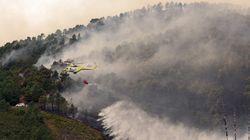 Un incendio de más de dos kilómetros arde en la comarca de Las