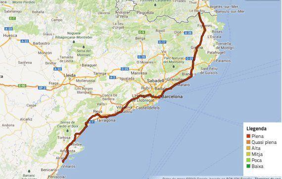 'Via catalana': Lo que tienes que saber sobre la cadena humana por la