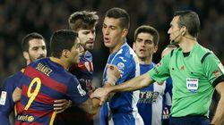 Dos partidos para Luis Suárez por insultar a los jugadores del
