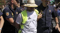 Detenidos 12 miembros del SAT tras entrar en un banco en Málaga
