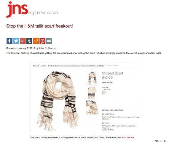 H&M genera polémica al lanzar un fular que se parece a un manto de oración