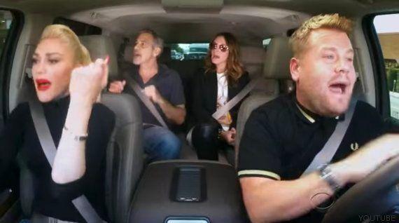 Gwen Stefani canta en un coche con George Clooney y Julia Roberts como