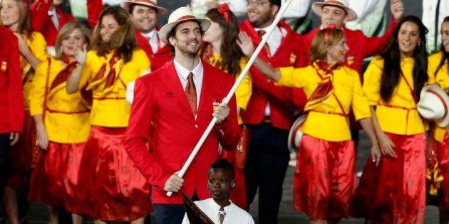 Las olímpicas españolas, con pantalón por primera vez en una ceremonia de