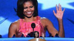 Michelle Obama le habla a Barack y a la clase