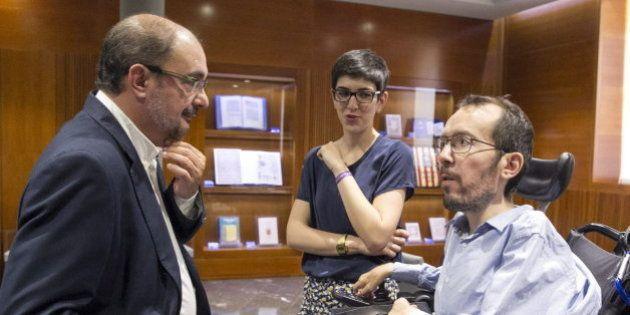 Podemos apoyará en Aragón la investidura del socialista