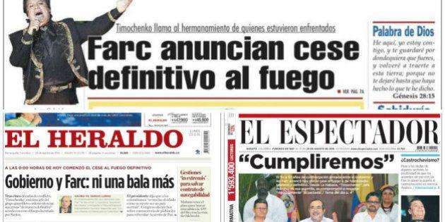 Así vive Colombia su primer día de paz tras el acuerdo con las