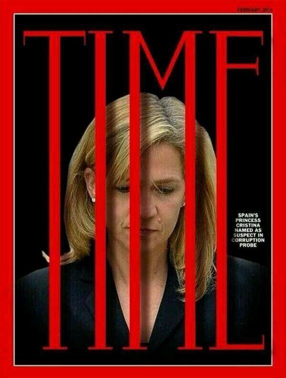 Una falsa portada de la revista 'Time' dedicada a la infanta Cristina revoluciona