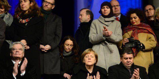 Manifestación contra el terrorismo y la islamofobia en Berlín: