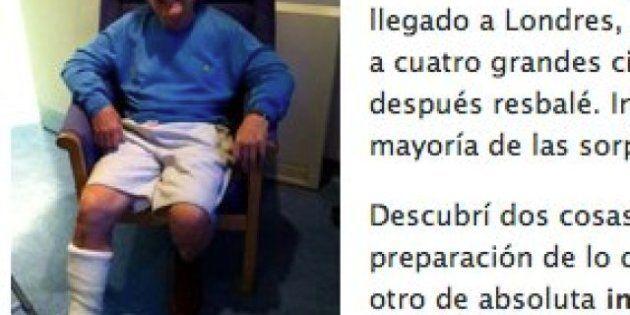 Eduard Punset se rompe una pierna mientras grababa 'Redes' en