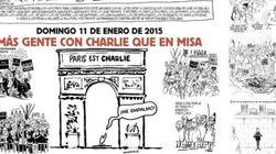 Dos páginas del número de hoy de 'Charlie Hebdo', en 'El