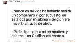 Arbeloa pide perdón a Casillas por retuitear una guía que le