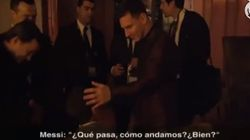 El entrañable encuentro entre el hijo de Cristiano y Messi