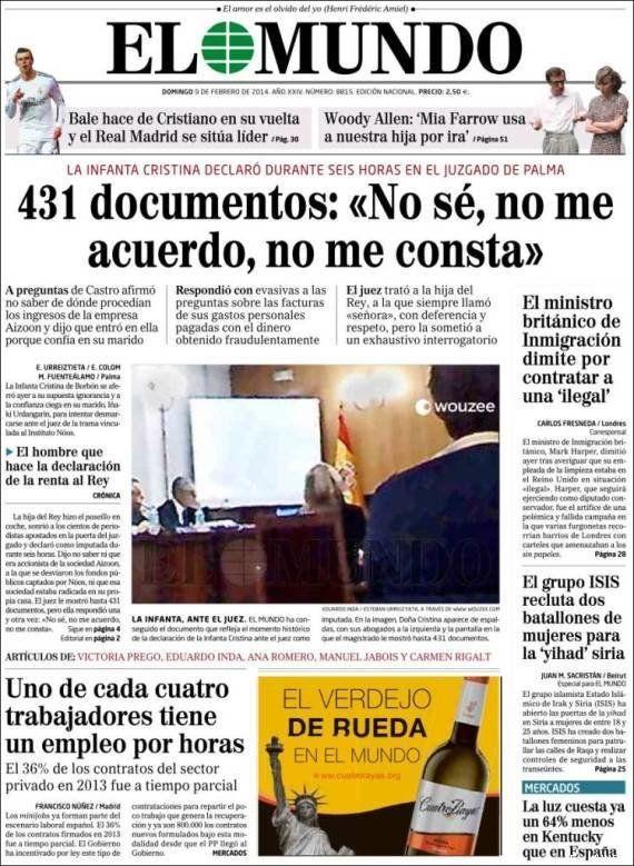 El juez Castro ordena investigar el origen de una foto de la infanta Cristina