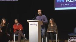 David Bravo (Podemos) convierte un mitin en un monólogo