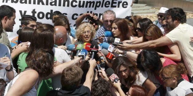 Carmena, tras reunirse con el presidente de Bankia: