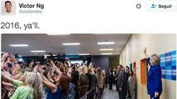 Esta imagen de Hillary Clinton está dando la vuelta al