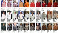 Angela Merkel: la misma chaqueta en muchos