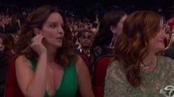 La cara que se le quedó a Tina Fey tras un chiste sobre Bill
