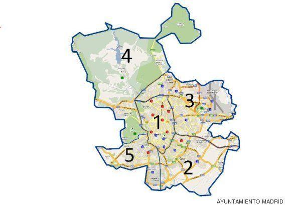 Madrid prohíbe aparcar en el centro a los no residentes por la