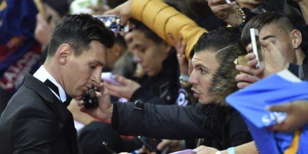 El traje de Messi en el Balón de Oro 2016: el rey de las chaquetas se