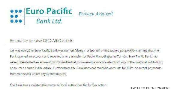 El banco donde Pablo Iglesias supuestamente cobró de Venezuela desmiente la