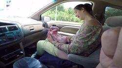 Una mujer da a luz en el coche mientras su marido la graba, lo suben a YouTube... y se hacen