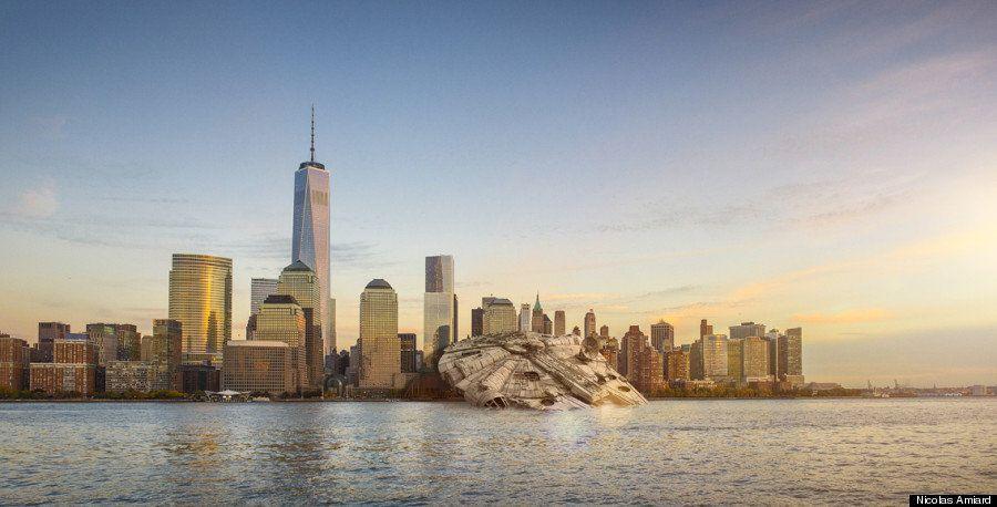 Si las naves de 'Star Wars' tomasen la Tierra: un artista recrea en fotos cómo sería la