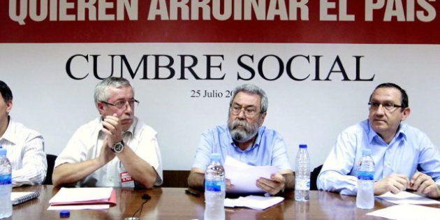 Los sindicatos convocan para el 15 de septiembre una marcha a Madrid y amenazan con huelga